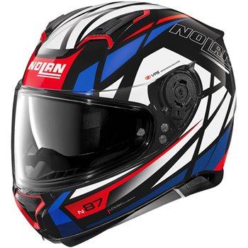 Nolan N87 Originality N-Com Helmet (Black|Red|Blue)  - Click to view larger image