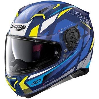 Nolan N87 Originality N-Com Helmet (Imperator Blue)  - Click to view larger image