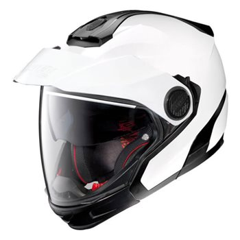 Nolan N40-5 GT Special N-Com Helmet (Metal White)  - Click to view larger image