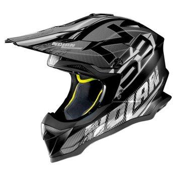 Nolan N53 Whoop MX Helmet (Flat Black|White) N53-Whoop-N-Com-Helmet-Flat-Black-White - Click to view larger image