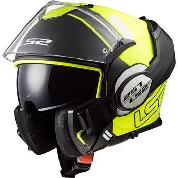 Ls2 Ff399 Valiant Prox Flip Front Helmet Blackyellow Le Pare