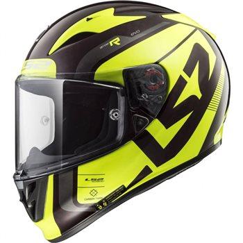 LS2 FF323 Arrow C Evo Sting Helmet (Black|Hi-Vis Yellow)  - Click to view larger image