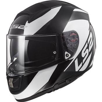 LS2 FF397 Vector Evo Wavy Helmet (Black|Titanium|White) LS2-FF396-Vector-Evo-FT2-Wavy-Helmet-Black-Titanium-White - Click to view larger image