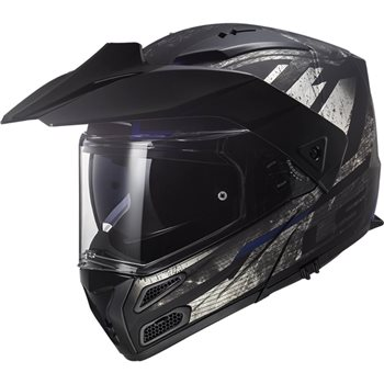 LS2 FF324 Metro Evo Buzz Helmet (Matt Black|Titanium|Blue) LS2-FF324-Metro-Evo-Buzz-Helmet-Matt-Black-Titanium-Blue - Click to view larger image