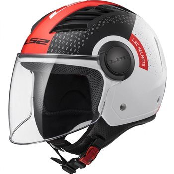 LS2 OF562 Airflow Condor Helmet (White Black Red) LS2-OF562-Airflow-Condor-Helmet-White-Black-Red - Click to view larger image