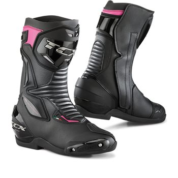TCX SP-Master Ladies Motorcycle Boots (Black|Fuchsia)  - Click to view larger image