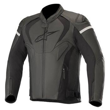 Alpinestars Jaws V3 Leather Motorcycle Jacket (Black|Black)  - Click to view larger image