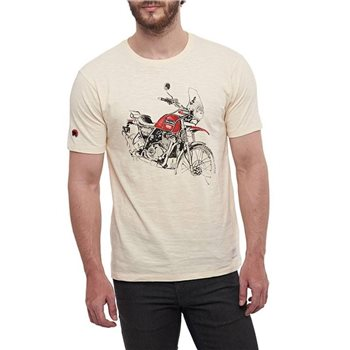 Royal Enfield Himalayan Master Piece T-Shirt (Off White)  - Click to view larger image