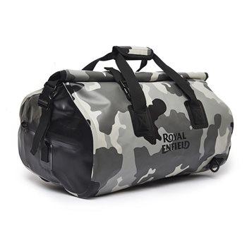 4e558565a Royal Enfield WP Rainproof Duffel Bag (Camo Grey) - Click to view larger  image