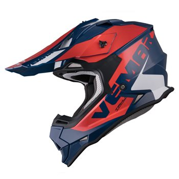 Vemar Taku Blade Moto-X Helmet (Navy|Red)  - Click to view larger image