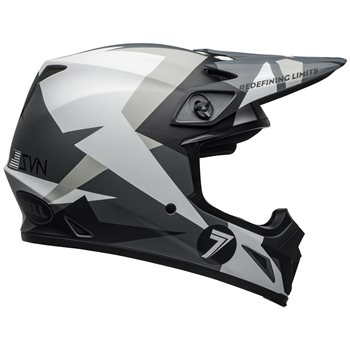 Bell Moto-9 Flex Helmet (Battleship Matte Black|Grey)  - Click to view larger image