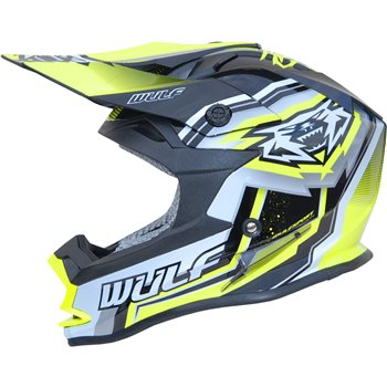 Wulfsport Vantage Motocross Helmet (Yellow)  - Click to view larger image