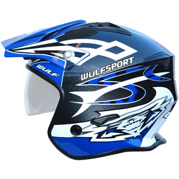 Wulfsport Cub Vista Trials Helmet (Blue)  - Click to view larger image