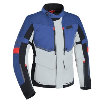 Oxford Mondial Advanced Textile Jacket (Grey Blue & Red)  - Click to view larger image