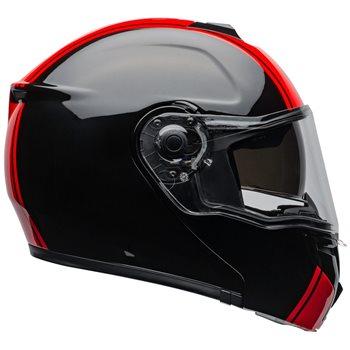 Bell SRT Modular Ribbon Flip Front Helmet (Black|Red)  - Click to view larger image
