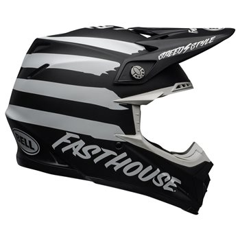 Bell Moto-9 MIPS Fasthouse Signia Helmet (Black|White) Moto-9-Mips-Fasthouse-Signia-Helmet-Black-White - Click to view larger image