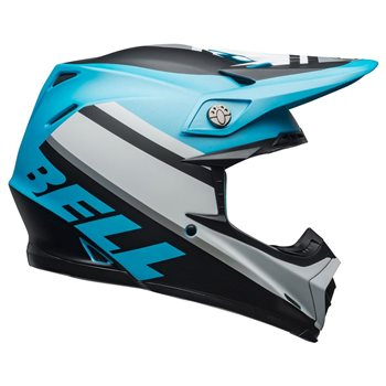 Bell Moto-9 MIPS Prophecy Helmet (White|Black|Blue) Moto-9-Mips-Prophecy-Helmet-White-Black-Blue - Click to view larger image