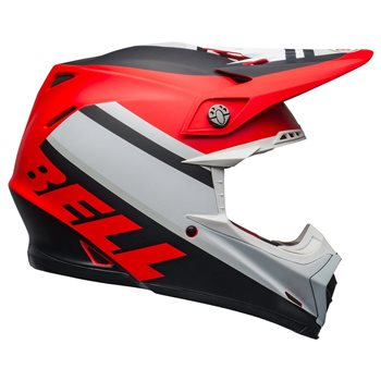 Bell Moto-9 MIPS Prophecy Helmet (White|Red|Black) Moto-9-Mips-Prophecy-Helmet-White-Red-Black - Click to view larger image