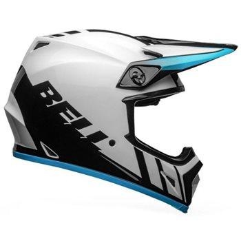Bell MX-9 MIPS Dash Helmet (White|Blue) Bell-MX-9-MIPS-Dash-Helmet-White-Blue - Click to view larger image