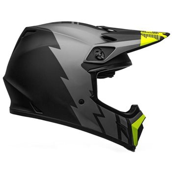 Bell MX-9 MIPS Strike Helmet (Grey Black Hi-Viz) Bell-MX-9-MIPS-Strike-Helmet-Grey-Black-Hi-Viz - Click to view larger image