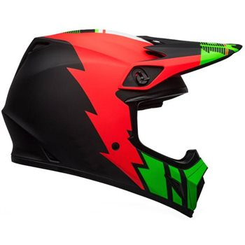 Bell MX-9 MIPS Strike Helmet (Red|Green|Black) Bell-MX-9-MIPS-Strike-Helmet-Red-Green-Black - Click to view larger image