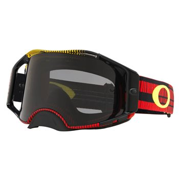 Oakley MX Goggles Airbrake Frequency Red/Yellow (Dark Grey Lens)  - Click to view larger image