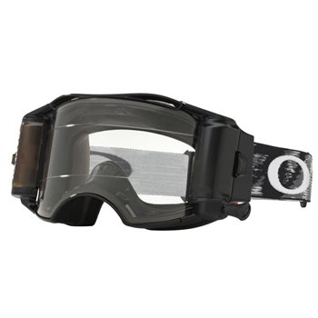 Oakley MX Goggles Airbrake Jet Black Speed Race Ready Roll Off (Clear Lens)  - Click to view larger image
