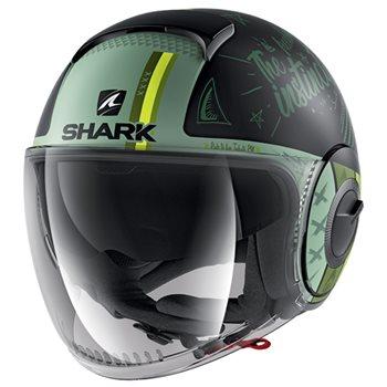 Size M White SHARK Nano Blank Motorcycle Helmet