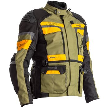 RST Pro Series Adventure-X CE Textile Jacket 2409 (Green|Ochre)  - Click to view larger image