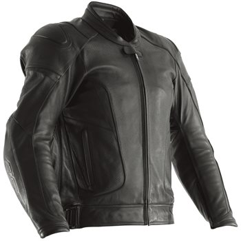 RST GT Airbag CE Leather Jacket 2973 (Black)  - Click to view larger image
