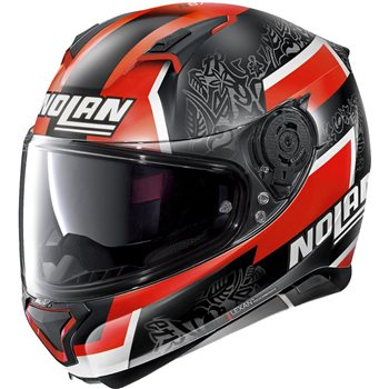 Nolan N87 Gemini Replica N-Com Helmet (D.Petrucci)  - Click to view larger image