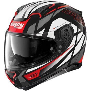 Nolan N87 Originality N-Com Helmet (Black/Grey/Red)  - Click to view larger image