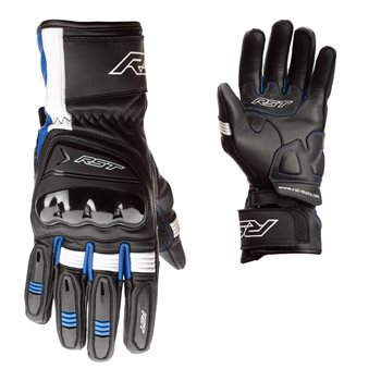 RST Pilot CE Red Leather Amara Motorcycle Glove Size 08