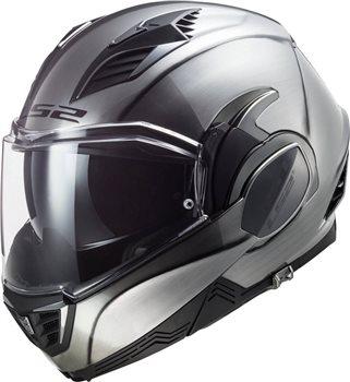 LS2 FF900 Valiant II Jeans Flip Front Helmet (Titanium)  - Click to view larger image