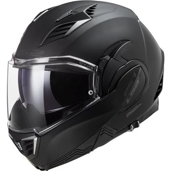 LS2 FF900 Valiant II Noir Flip Front Helmet (Matt Black)  - Click to view larger image