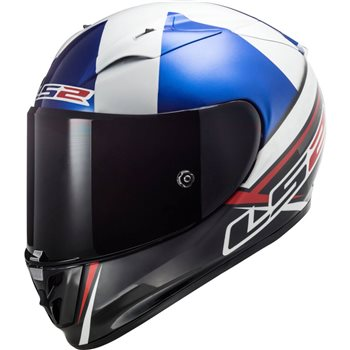 LS2 FF323 Arrow R McPhee Replica Helmet (Black/Blue/Red)  - Click to view larger image