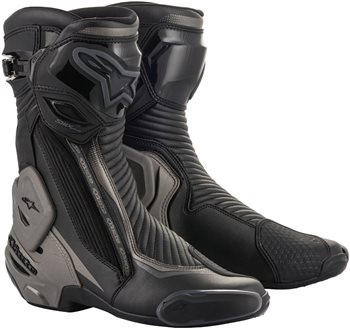 Alpinestars SMX Plus v2 Motorcycle Boots (Black/Grey)  - Click to view larger image