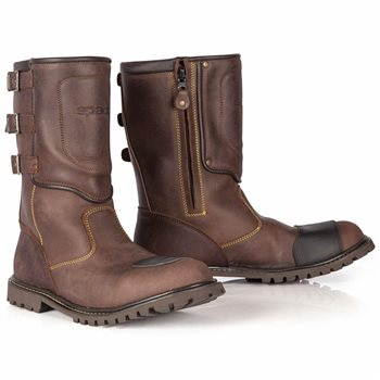 Spada Foundry CE WP Motorcycle Boots (Brown)  - Click to view larger image