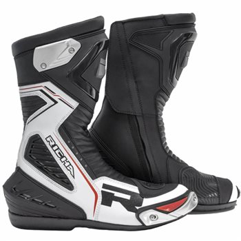 Richa Velocity Motorcycle Boots (Black/White) 1