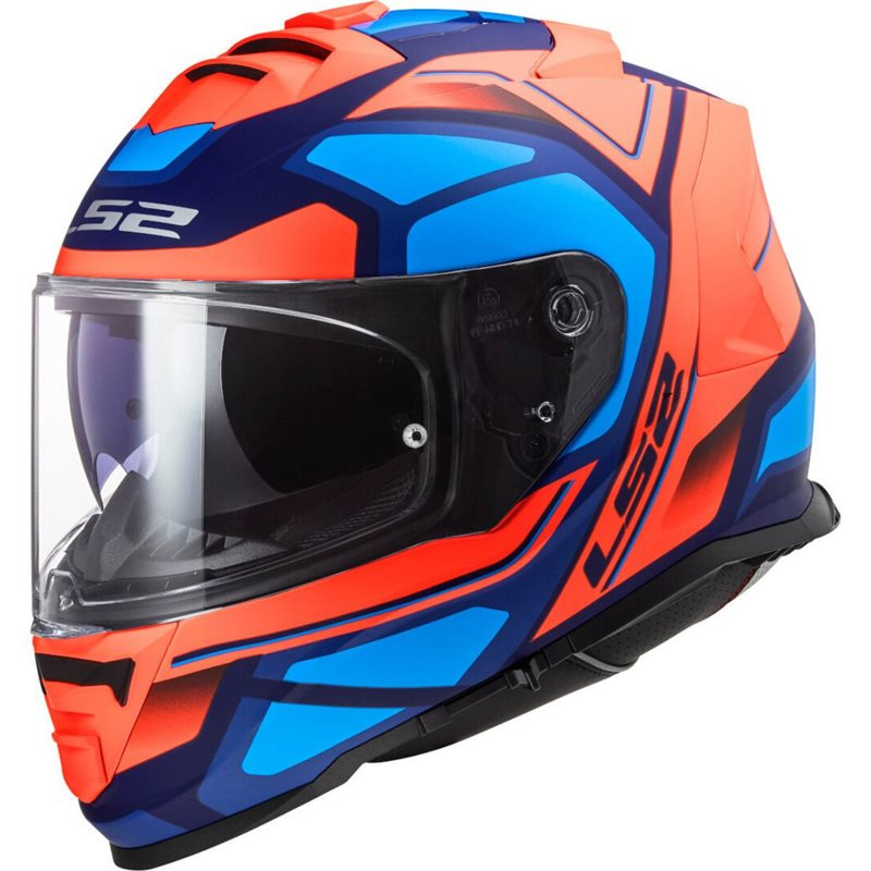 LS2 FF800 Storm Faster Helmet (Matt Fluo Orange/Blue) 1