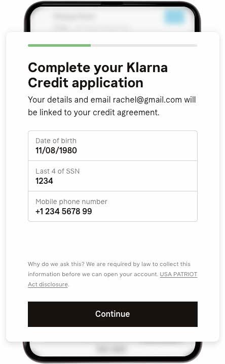 Klarna-Finance-checkout-App