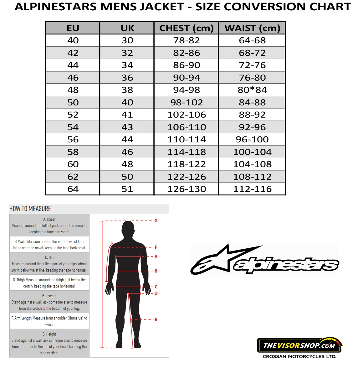 Alpinestars_Mens_Jackets_Size_Chart