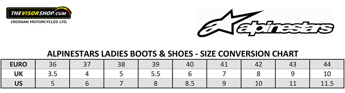 Alpinestars_Womens_Motorcycle_Boots_Size_Chart