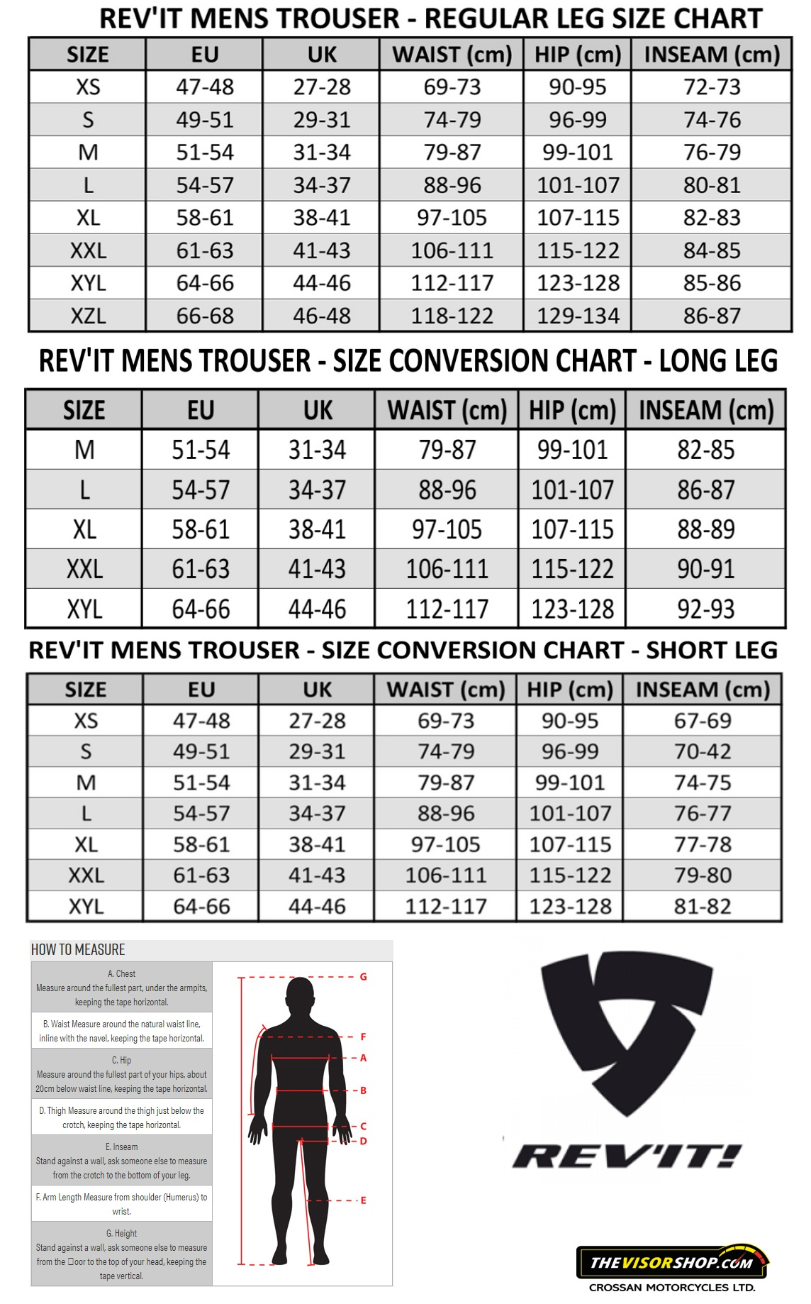 Rev'it_Mens_Motorcycle_Trousers_Size_Chart