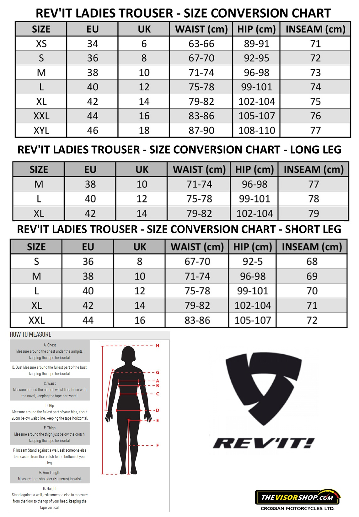 Revit_Womens_Motorcycle_Trousers_Size_Chart